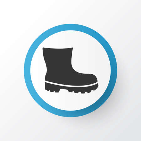 Boot icon symbol. Premium quality isolated footwear element in trendy style.