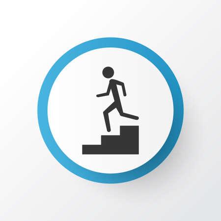 Símbolo de icono de escalera. Elemento aislado de calidad superior en estilo moderno. Foto de archivo - 92886765