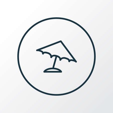 Parasol icon line symbol. Premium quality isolated umbrella element in trendy style.