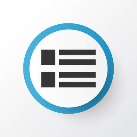 Form icon symbol. Premium quality isolated social wall element in trendy style.