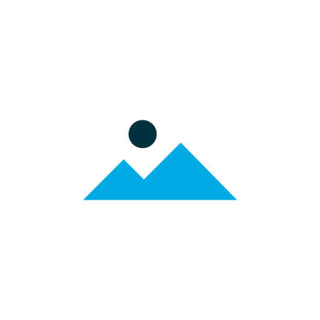 Landscape icon colored symbol. Premium quality isolated mountain element in trendy style.