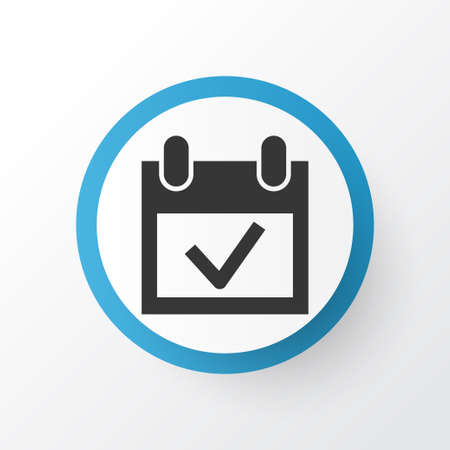 Event icon symbol. Premium quality isolated calendar element in trendy style.