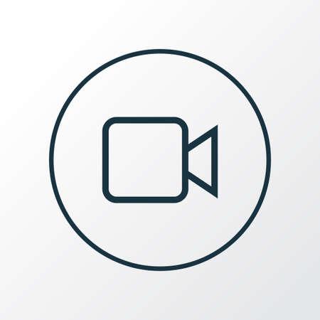 Camcorder icon line symbol. Premium quality isolated video element in trendy style. 일러스트