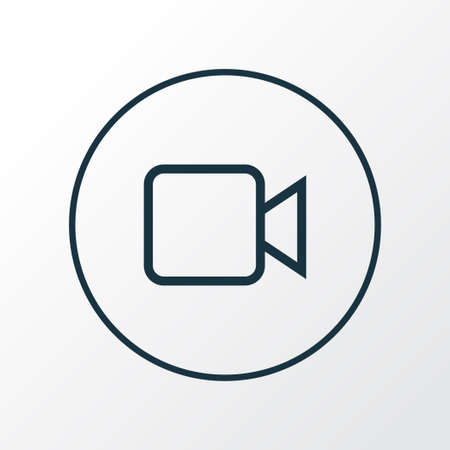 Camcorder icon line symbol. Premium quality isolated video element in trendy style. Illustration