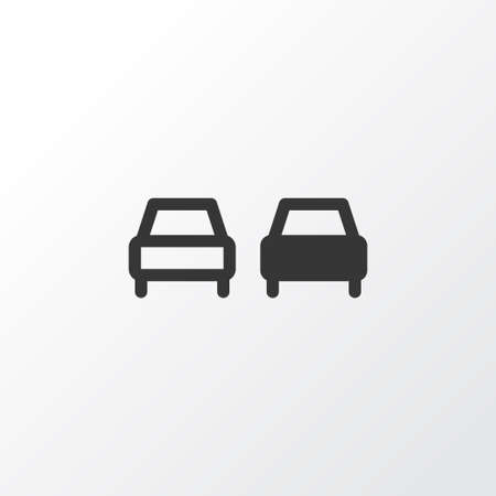 No overtaking icon symbol. Premium quality isolated beware element in trendy style.