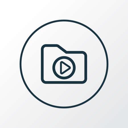 Dossier icon line symbol. Premium quality isolated media folder element in trendy style.
