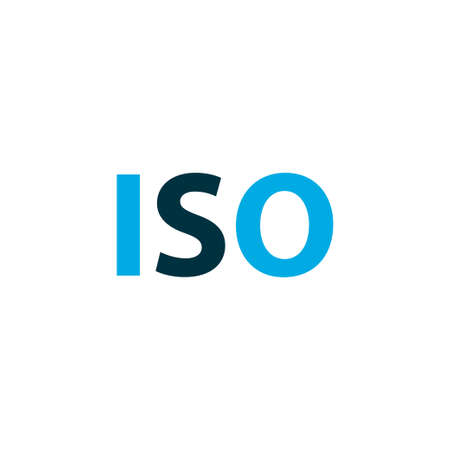 Iso icon colored symbol. Premium quality isolated light level element in trendy style. Illustration