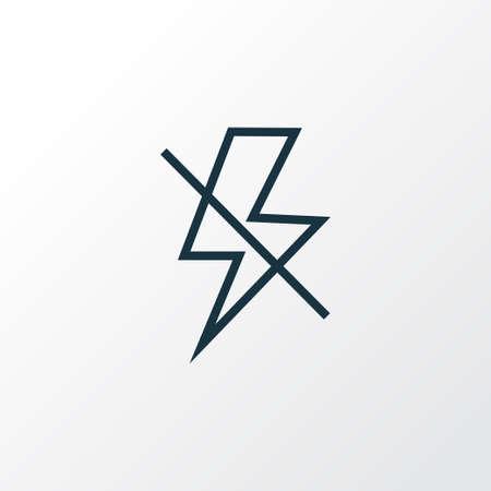 Lightning icon line symbol. Premium quality isolated flash off element in trendy style. Illustration