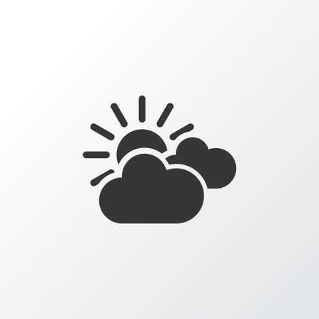 석양 아이콘 기호입니다. 프리미엄 품질은 유행 스타일의 구름 요소를 중심으로 분리되었습니다.
