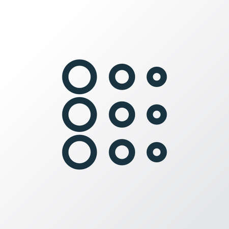 Circle icon line symbol. Premium quality isolated blur element in trendy style. Stock Photo