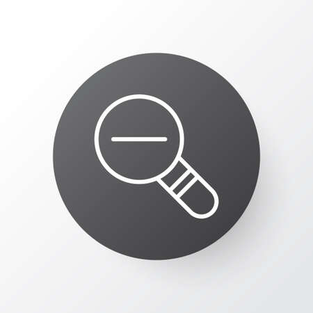 Decrease lop icon symbol. Premium quality isolated zoom out element in trendy style.