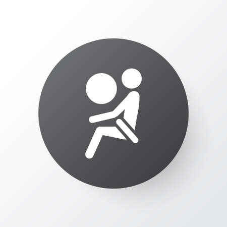 Airbag icon symbol. Premium quality isolated safety element in trendy style.