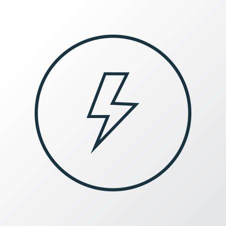 Flash icon line symbol. Premium quality isolated lightning element in trendy style.