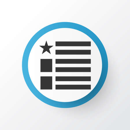 Feed icon symbol. Premium quality isolated questionnaire element in trendy style.