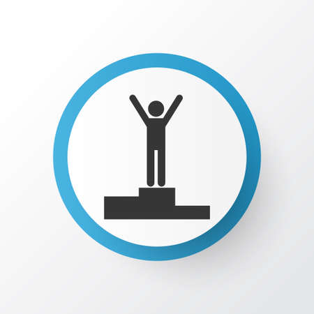 Winner icon symbol. Premium quality isolated champion element in trendy style. Stock Photo