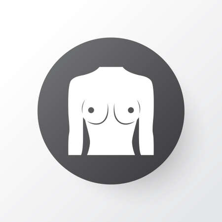 Breast icon symbol. Premium quality isolated boob element in trendy style. Illustration