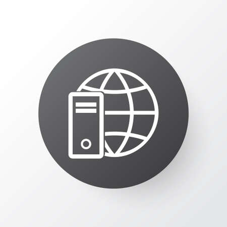 Global connection icon symbol. Premium quality isolated internet network element in trendy style. Illustration