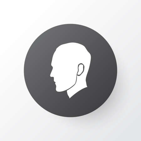 Head icon symbol. Premium quality isolated human element in trendy style.