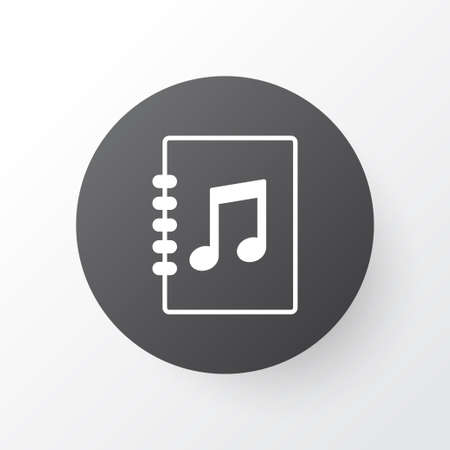 Playlist icon symbol. Premium quality isolated tune list element in trendy style. Stock Photo