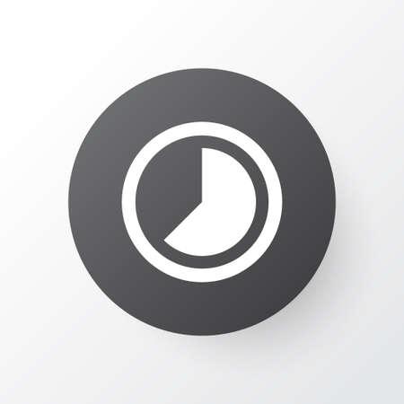 Timelapse 아이콘 기호입니다. 고급 품질은 유행 스타일로 가속 요소를 분리했습니다.