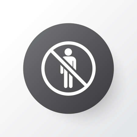Stop icon symbol. Premium quality isolated do not enter element in trendy style.