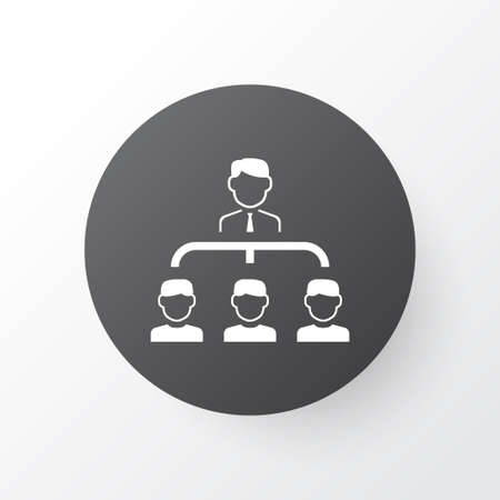 Subordination icon symbol. Premium quality isolated hierarchy element in trendy style. Illustration