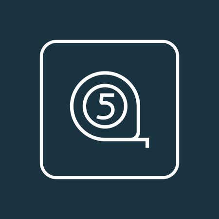 Tape measure icon line symbol. Premium quality isolated meter element in trendy style. Stock Illustratie