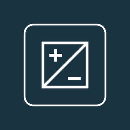 Mode icon line symbol. Premium quality isolated exposure element in trendy style. 스톡 콘텐츠