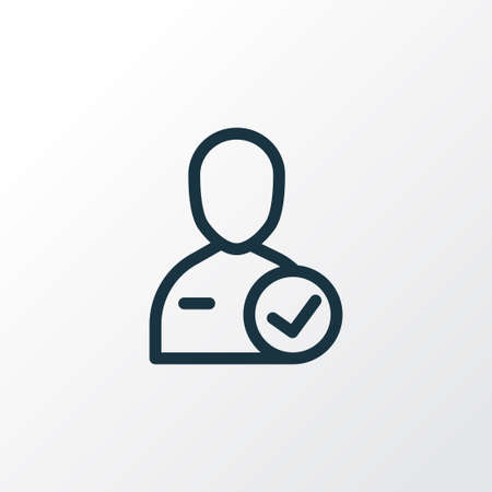 Candidate icon line symbol. Premium quality isolated recruitment element in trendy style.