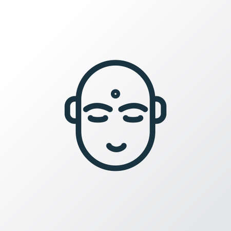 Hindu human icon line symbol. Premium quality isolated indian man element in trendy style.