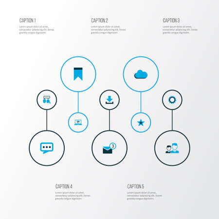Media icons colored set with overcast, mates, dialogue and other dialog