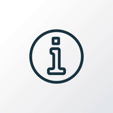 Information icon line symbol. Premium quality isolated help element in trendy style.