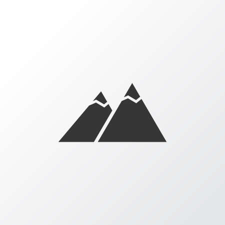 The mountains icon symbol. Premium quality isolated peak element in trendy style.