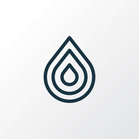 Drop icon line symbol. Premium quality isolated water element in trendy style.