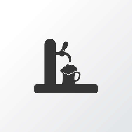 Tap icon symbol. Premium quality isolated beer spilling element in trendy style.
