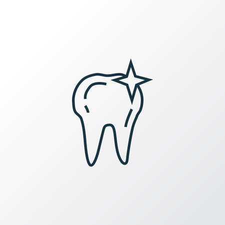 Clean tooth icon line symbol. Premium quality isolated cleaned element in trendy style.