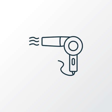 Symbole de ligne d'icône de sèche-cheveux Vintage. Élément de sèche-cheveux isolé de qualité supérieure dans un style branché.