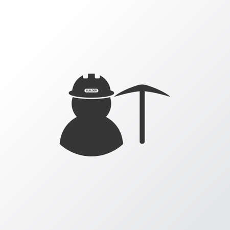 Miner icon symbol. Premium quality isolated worker element in trendy style. Illustration