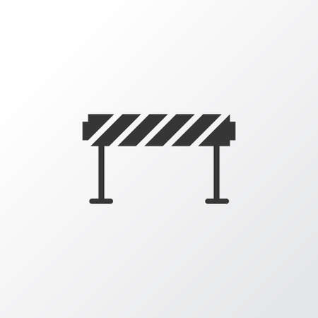 Barrage icon symbol. Premium quality isolated barrier element in trendy style.