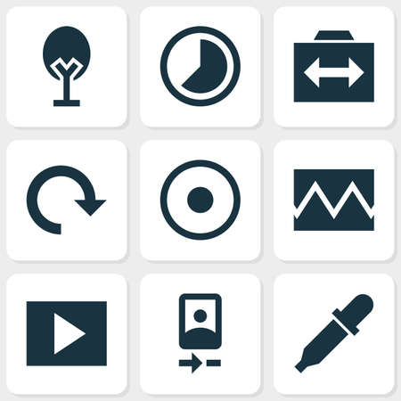 Image icons set with timelapse, rotate, slideshow and other accelerated   elements. Isolated vector illustration image icons.