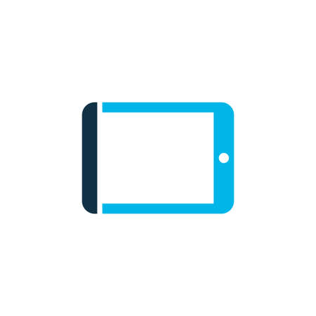 Tablet icon colored symbol. Premium quality isolated palmtop element in trendy style.