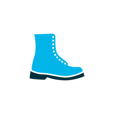 Boot icon colored symbol. Premium quality isolated shoes element in trendy style.
