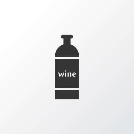 Bottle of wine icon symbol. Premium quality isolated cabernet element in trendy style. Illustration