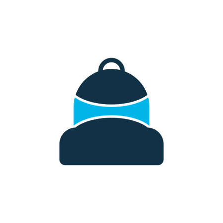 Backpack icon colored symbol. Premium quality isolated schoolbag element in trendy style.