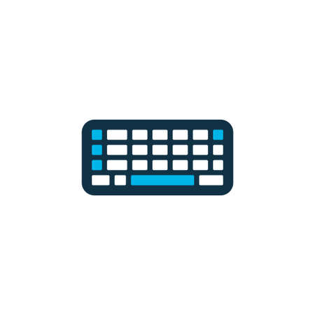 Keyboard icon colored symbol. Premium quality isolated keypad element in trendy style.
