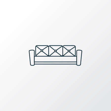 Couch icon line symbol. Premium quality isolated sofa element in trendy style. Vectores