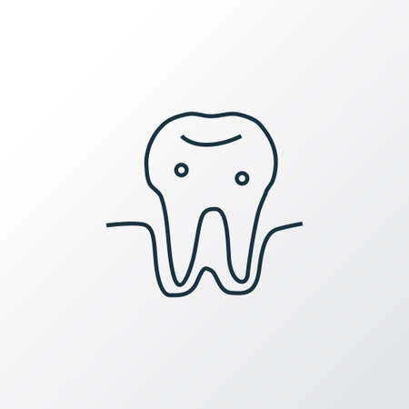 Parodontosis icon line symbol. Premium quality isolated gingivitis element in trendy style.