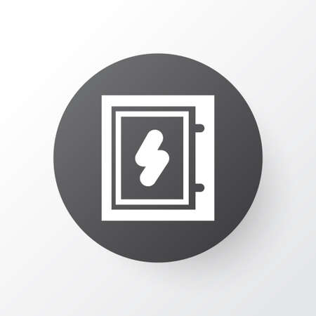 Electrical board icon symbol. Premium quality isolated electric box element in trendy style. Stock Illustratie