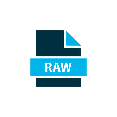 Fie raw icon colored symbol. Premium quality isolated image format element in trendy style.