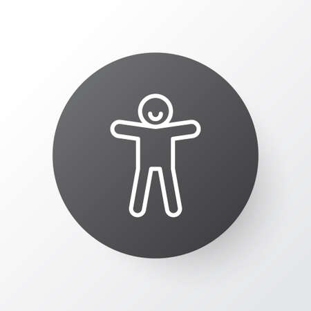 Ginger cookie icon symbol. Premium quality isolated shortcake element in trendy style.  イラスト・ベクター素材